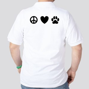 Peace Love Dogs [st b/w] Golf Shirt